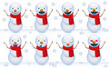 Smile snowmen Royalty Free Stock Image