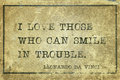 Smile in trouble DaVinci Royalty Free Stock Photo