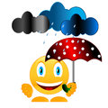 Smile with umbrella Royalty Free Stock Photography
