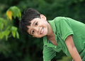 Smile a young happy little boy Royalty Free Stock Images