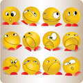 Smiles emotions cartoon and character symbol Stock Image