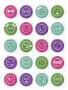 Smiles icons set child girls and boys