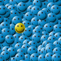 Smiles texture (blue) Royalty Free Stock Photography
