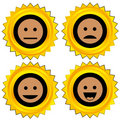 Smiley award icon set Stock Photography