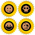 Smiley award icon set Stock Images