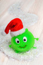 Smiley on the background of snow christmas Stock Image