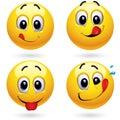 Smiley balls Royalty Free Stock Photo