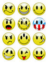 Smiley Buttons Stock Images