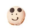 Smiley cake isolated Royalty Free Stock Image