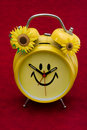 Smiley Clock Stock Photography