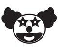 Smiley clown face icon vector