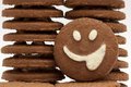 Smiley cookie Royalty Free Stock Photo