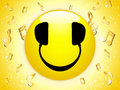 Smiley DJ Background with Music Royalty Free Stock Photos