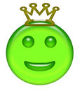 Smiley emoticon with crown Stock Images