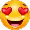 Smiley emoticon feeling in love
