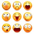 Smiley,emoticon set. Yellow face with emotions,mood. Facial expression, realistic emoji. Sad,happy,angry faces.Funny