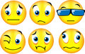 Smiley emoticons 2 Stock Image