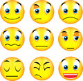 Smiley emoticons Stock Photo
