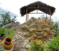 Smiley face art and architecture in gardens located near quito ecuador Royalty Free Stock Image