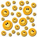 Smiley Face Background White Royalty Free Stock Photo