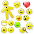 Smiley Face Button Emoticon Family Royalty Free Stock Photography