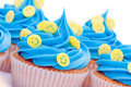 Smiley face cupcakes Stock Photography