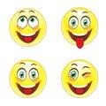 Smiley face stock photo set Stock Photos