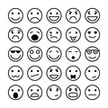 Smiley faces elements for website design Royalty Free Stock Photo