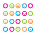 Smiley faces icon set. Royalty Free Stock Photo