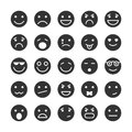 Smiley faces icons set of emotions mood and expression isolated vector illustration Royalty Free Stock Image