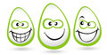 Smiley faces illustration drawing representing of eggs Stock Image