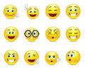 Smiley faces images expressing different emotions Royalty Free Stock Photo