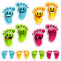 Smiley Happy Feet Royalty Free Stock Photos