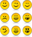 Smiley  icons. Royalty Free Stock Photo
