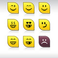 Smiley icons. Royalty Free Stock Photos