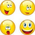 Smiley icons Royalty Free Stock Photo