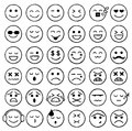 Smiley Icons, Emoticons, Facial Expressions, Internet Royalty Free Stock Photo