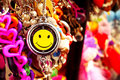 Smiley Keychains for unleashing the positivity in You Royalty Free Stock Photo
