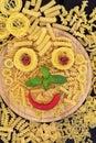 Smiley Pasta Royalty Free Stock Photo