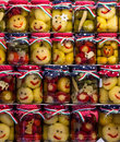 Smiley pickles in a jar Royalty Free Stock Photo
