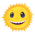 Smiley Sun Fotografia de Stock