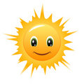Smiley Sun. Vector icon Royalty Free Stock Photography
