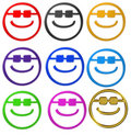 Smiley with sunglasses Royalty Free Stock Image