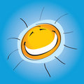 Smiley Sunny  Royalty Free Stock Image