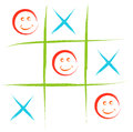 Smiley tic tac toe game illustration Stock Image