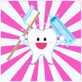 Smiley tooth Royalty Free Stock Photo