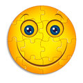 Smileypuzzlespiel Stockfotos