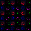 Smileys in the dark Royalty Free Stock Image