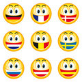 Smileys_flags_1 Stock Photos