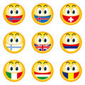Smileys_flags_2 Royalty Free Stock Images